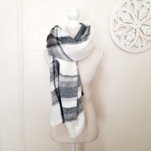 Zara blanket plaid scarf